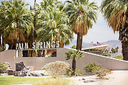 Palm Springs Welcome Sign and Visitor Center