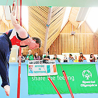 10 June 2010; Conrad McCullogh, from Ennis, Co. Clare, competes on the rings during the 2010 Special Olympics Ireland Games. University of Limerick, Limerick. Picture credit: Diarmuid Greene / SPORTSFILE *** NO REPRODUCTION FEE ***