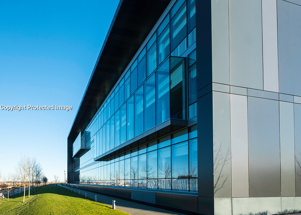 Modern laboratory building at the bioQuarter in Edinburgh, Scotland, United Kingdom