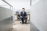 China / Shanghai <br /> <br /> Sun Lu , 29 years old working at Satori Investments.<br /> <br /> © Daniele Mattioli Shanghai China Corporate and Industrial Photographer  for the Australian Magazine