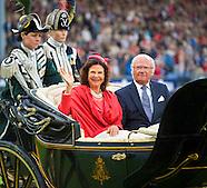 Deelname aan de opening van het CHIO Aken van koningin Silvia en koning Carl XVI Gustaf van Zweden