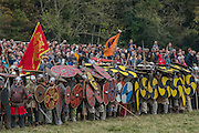 The Saxon shield wall - English Heritage's annual re-enactment of the Battle of Hastings marks the 950th anniversary of the Battle in 1066. The event includes a Cavalry encampment, Norman & Saxon encampments and Medieval traders. It takes place at Battle Abbey on October 15th and 16th.