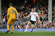 Fulham midfielder Kevin McDonald (06) controlling the ball and dribbling during the EFL Sky Bet Championship match between Fulham and Preston North End at Craven Cottage, London, England on 4 March 2017. Photo by Matthew Redman.