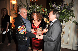 Left, DAVID BAILEY at a dinner hosted by Vogue in honour of photographer David Bailey at Claridge's, Brook Street, London on 11th May 2010.