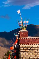 Prayer flags, Tibet (Xizang), China.