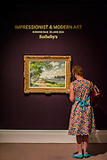Sotheby's £250m Impressionist & Modern Art and Contemporary Art Summer Sales.  Highlights include: Monet's Water Lilies est £20-30m (and here   his La Seine a Argenteuil est £7m   - pictured); a Mondrian, est £13-18m; a Peter Doig, est £9m; a Frances Bacon triptych of his lover George Dyer, est £15-20m; and works by Matisse, Picasso, Basquiat, Warhol and Richter. Sotheby's, New Bond Street, London.