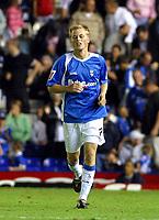 Photo: Dave Linney.<br />Birmingham City v Shrewsbury Town. Carling Cup. 22/08/2006.Blues goalscorer Sebastian Larsson