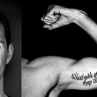 Nederland, Eindhoven, 09-01-2013.<br /> Yorick de Bruijn, schoonspringer,, met zijn tattoo.<br /> Foto : Klaas Jan van der Weij