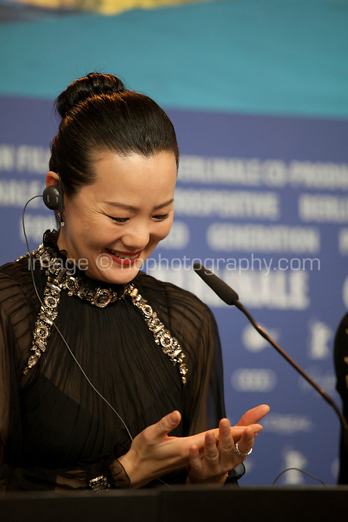 Yong Mei, winner of Silver Bear for Best Actress or the film So long, My Son at the award winners press conference at the 69th Berlinale International Film Festival, on Saturday 16th February 2019, Hotel Grand Hyatt, Berlin, Germany.