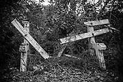 Broken Bench in Headland Park, Mosman, NSW, Australia