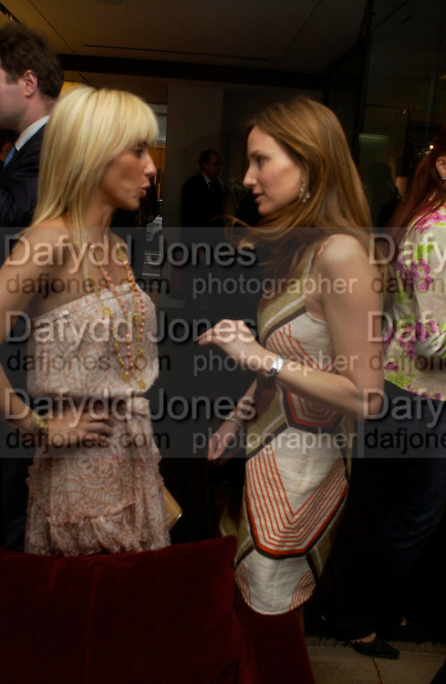 Princess Alexandra von Furstenburg and Emily Oppenheimer. Book launch of ' The Russian House'  by Ella Krasner at De Beers. 50 Old Bond St. London W1. ONE TIME USE ONLY - DO NOT ARCHIVE  © Copyright Photograph by Dafydd Jones 66 Stockwell Park Rd. London SW9 0DA Tel 020 7733 0108 www.dafjones.com