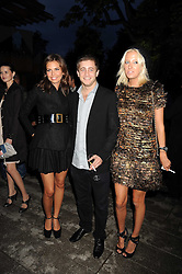 Left to right, DASHA ZHUKOVA, JESSE WOOD and the HON.SOPHIA HESKETH at the annual Serpentine Gallery Summer Party in Kensington Gardens, London on 9th September 2008.