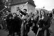 LOUISA BUCK; TRACEY EMIN, INTERCOURSE: Re-enacting Eisenstein: The Odessa Steps Sequence from Battleship Potemkin<br /> Jane and Louise Wilson directed the re-enactment on the steps outside the ICA. 26 November 2011.