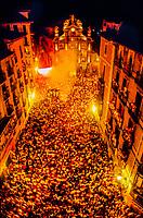 Closing ceremony, Fiesta of San Fermin, Pamplona, Spain