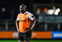 Cheetahs' Teboho Mohoje<br /> <br /> Photographer Craig Thomas/Replay Images<br /> <br /> Guinness PRO14 Round 18 - Dragons v Cheetahs - Friday 23rd March 2018 - Rodney Parade - Newport<br /> <br /> World Copyright © Replay Images . All rights reserved. info@replayimages.co.uk - http://replayimages.co.uk
