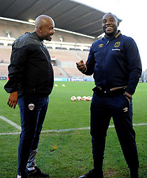 Cape Town 18-03-03 Cape Town City coach Benni McCarthy and Chippa United Coach Tebogo Maloi PSL Game In Athlone Staduim against Chippa United Pictures Ayanda Ndamane African news agency/ANA