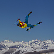 Takumi Toyama, Japan,in action in the Slopestyle Finals during The North Face Freeski Open at Snow Park, Wanaka, New Zealand, 2nd September 2011. Photo Tim Clayton...