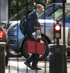 © Licensed to London News Pictures. 02/08/2021. London, UK. Foreign.Secretary DOMINIC RAAB arrives at Downing Street. Raab has accused Iran of murdering British citizen  in a 'deliberate' attack on oil tanker. Photo credit: Ben Cawthra/LNP