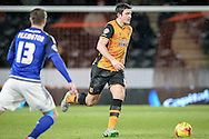 Harry Maguire (Hull City) during the Sky Bet Championship match between Hull City and Cardiff City at the KC Stadium, Kingston upon Hull, England on 13 January 2016. Photo by Mark P Doherty.