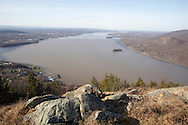 Cornwall, New York - A view of the Hudson River looking north from Storm King Mountain State Park on March 27, 2010.