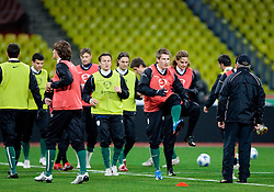 Valter Birsa at practice of Slovenian team a day before FIFA World Cup 2010 Qualifying match between Russia and Slovenia, on November 13, 2009, in Stadium Luzhniki, Moscow, Russia.  (Photo by Vid Ponikvar / Sportida)