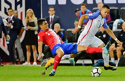 September 1, 2017 - Harrison, NJ, USA - Harrison, N.J. - Friday September 01, 2017:  Johnny Acosta, Bobby Wood during a 2017 FIFA World Cup Qualifying (WCQ) round match between the men's national teams of the United States (USA) and Costa Rica (CRC) at Red Bull Arena. (Credit Image: © Howard Smith/ISIPhotos via ZUMA Wire)