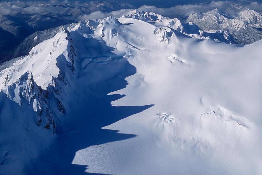 Mount Olympus and Hoh Glacier, morning light, winter, Olympic National Park, Washington, USA