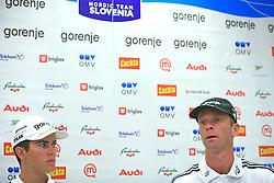 Jernej Damjan and Matjaz Zupan at press conference before FIS Continental cup Ski-jumping Summer Velenje 2008, on June 30, 2008, Ljubljana, Slovenia. (Photo by Vid Ponikvar / Sportal Images)../ Sportida)