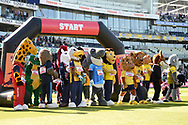 Mascots line up for the mascot race during the Vitality T20 Finals Day 2019 match between Notts Outlaws and Worcestershire Rapids at Edgbaston, Birmingham, United Kingdom on 21 September 2019.