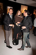 ANDY VALMORBIDA; CARINE ROITFELD; FABIO MANCONE , Richard Hambleton private view.- New York- Godfather of Street art presented by Vladimir Restoin Roitfeld and Andy Valmorbida in collaboration with Giorgio armani. The Old Dairy. London. 18 November 2010. -DO NOT ARCHIVE-© Copyright Photograph by Dafydd Jones. 248 Clapham Rd. London SW9 0PZ. Tel 0207 820 0771. www.dafjones.com.