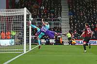 Football - 2018 / 2019 Premier League - AFC Bournemouth vs. Newcastle United<br /> <br /> An acrobatic goal line clearance from captain Paul Dummett of Newcastle United keeps the scores level at the Vitality Stadium (Dean Court) Bournemouth <br /> <br /> COLORSPORT/SHAUN BOGGUST