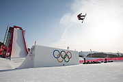 , Great Britain, during the mens snowboard big air qualification at the Pyeongchang 2018 Winter Olympics on February 21st 2018, at the Alpensia Ski Jumping Centre in Pyeongchang-gun, South Korea
