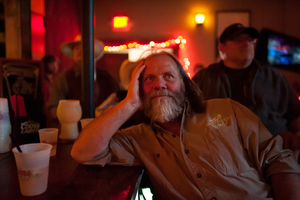 Andy Breland watching the premier of Dead End Express.