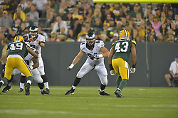 Matt Tobin #64 of the Philadelphia Eagles against the Green Bay Packers at Lambeau Field on August 29, 2015 in Green Bay, Pennsylvania. The Eagles won 39-26. (Photo by Drew Hallowell/Philadelphia Eagles)