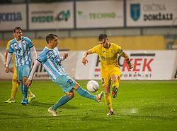 2# Andraz Zinic of NK Domzale and 10# Goran Cvijanović of ND Gorica during the match of 6. Round, 1.st Slovenian National Football League between NK Domzale and ND Gorica, on 03.10.2020 in Domzale, Slovenia. Photo by Urban Meglič / Sportida