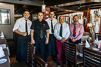 Pepe and staff at Playa Bella Restaurante, Estepona, Malaga Province, Spain, 16th February 2020, 202002162224<br />