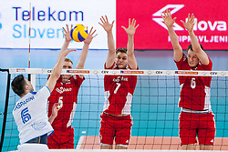 Mitja Gasparini #6 of Slovenia during volleyball match between National teams of Slovenia and Poland in 4th Qualification game of CEV European Championship 2015 on May 23, 2014 in Arena Stozice, Ljubljana, Slovenia. Photo by Urban Urbanc / Sportida