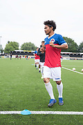 Tibetan team warming up during the London Turkish All-Stars Vs Tibet during the Conifa Paddy Power World Football Cup Placement Match A on the 5th June 2018 at Bromley in the United Kingdom. London Turkish All-Stars 4 Tibet 0. Tibet were due to play Ellan Vannin, although Ellan Vannin were withdrawn by CONIFA. Ellan Vannin's withdrawal comes following a vote of the tournament management committee on Monday 4 June, which rejected a challenge by Ellan Vannin to the eligibility of a Barawa player. The CONIFA World Football Cup is an international football tournament organised by CONIFA, an umbrella association for states, minorities, stateless peoples and regions unaffiliated with FIFA.