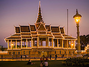 26 FEBRUARY 2015 - PHNOM PENH, CAMBODIA: The Royal Palace in Phnom Penh, Cambodia.    PHOTO BY JACK KURTZ