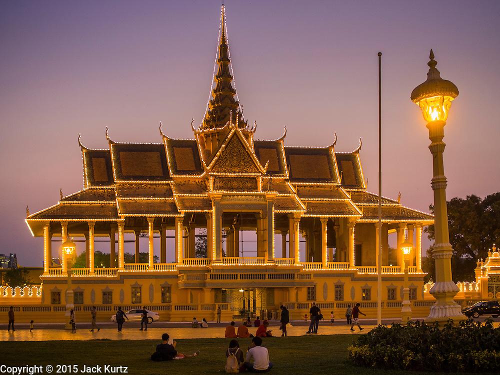 26 FEBRUARY 2015 - PHNOM PENH, CAMBODIA: The Royal Palace in Phnom Penh, Cambodia.    PHOTO BY JACK KURTZ