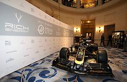 Rich Energy Livery during the Rich Energy Haas F1 Team 2019 car launch at the Royal Automobile Club, London.