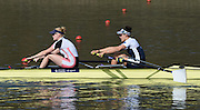 Caversham  Great Britain.<br /> Bow. Jessica EDDIE and Polly SWANN. <br /> 2016 GBR Rowing Team Olympic Trials GBR Rowing Training Centre, Nr Reading  England.<br /> <br /> Tuesday  22/03/2016 <br /> <br /> [Mandatory Credit; Peter Spurrier/Intersport-images]