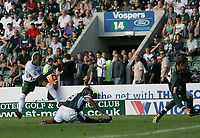 Photo: Lee Earle.<br /> Plymouth Argyle v Norwich City. Coca Cola Championship. 23/09/2006. Norwich's Robert Earnshaw scores (L) their only goal.