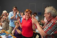DEU, Deutschland, Germany, Berlin, 01.06.2018: Landesparteitag der Berliner SPD im Hotel Andels. Gabriele Bischoff, Präsidentin der Arbeitnehmergruppe im Europäischen Wirtschafts- und Sozialausschuss und Kandidatin der Berliner SPD zur Europawahl.