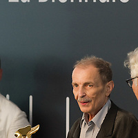 VENICE, ITALY - JUNE 04:  Artist Franz Vest is awarded a Golden Lion for Lifetime Achievement at the Official Awards  of the 54th International Art Exhibition on June 4, 2011 in Venice, Italy. This year's Biennale is the 54th edition and will run from June 4th until 27 November.