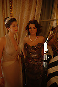 Princess Augusta von Preussen and Yasmin Kerr. Getting Ready for the 2005 Crillon Debutante Bal. Crillon Hotel, Paris. 25  November 2005. ONE TIME USE ONLY - DO NOT ARCHIVE  © Copyright Photograph by Dafydd Jones 66 Stockwell Park Rd. London SW9 0DA Tel 020 7733 0108 www.dafjones.com