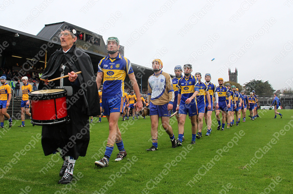 10/11/13  Newmarket On-Fergus paradeon the pitch before the start of the Senior Hurling County Final in Cusack Park. Pic Tony Grehan / Press 22