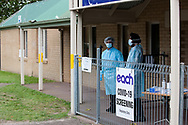 The staff at a Boronia COVID testing clinic during a quite period on the first day of a five day snap lockdown in Victoria due to COVID-19 outbreak originating at The Holiday Inn. The entire state is returning to harsh stage-four lockdowns until Wednesday at 11.59pm as health authorities struggle to contain the Holiday Inn coronavirus outbreak.