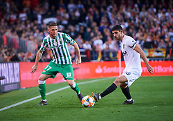 February 28, 2019 - Valencia, U.S. - VALENCIA, SPAIN - FEBRUARY 28: Joaquin Sanchez, midfielder of Real Betis Balompie competes with Gonalo Guedes, midfielder of Valencia CF during the Copa del Rey match between Valencia CF and Real Betis Balompie at Mestalla stadium on February 28, 2019 in Valencia, Spain. (Photo by Carlos Sanchez Martinez/Icon Sportswire) (Credit Image: © Carlos Sanchez Martinez/Icon SMI via ZUMA Press)