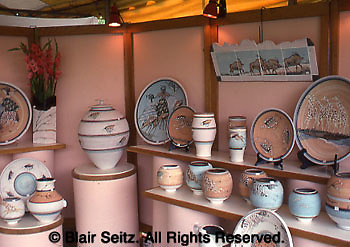 Willow Street Pottery, State (PA) craft fair, Franklin and Marshall College